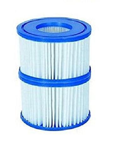 Bestway Ouse Valley Type 6-Lot de 2 Cartouche de filtre de piscine pompe ^Facile à nettoyer.