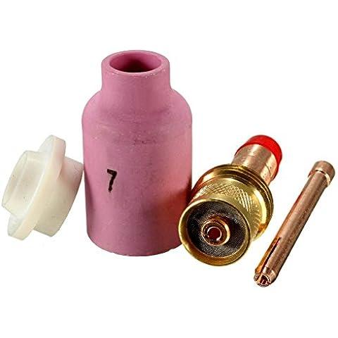 Yongse Guida 4 pezzi Argon saldatura ad arco pistola flusso dell'ugello Isolatori Guarnizione