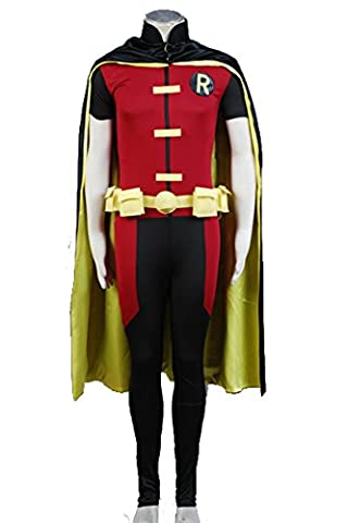 Costume Robin Rouge - Jeylu Young Justice Robin Cosplay Coat pour