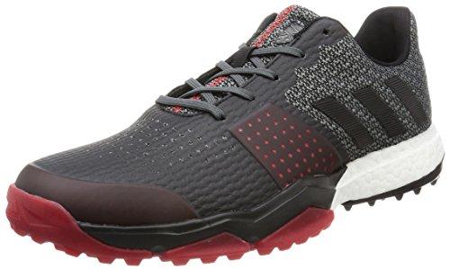 Adidas adipower Sport Boost 3Golf Schuhe, Herren, mehrfarbig (Schwarz / Grau / Rot), 42 2/3 EU (8.5 UK)