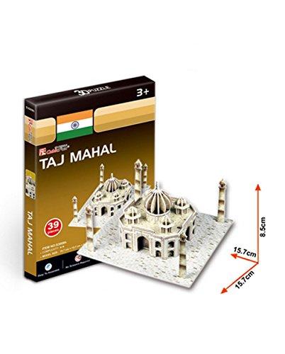 Das Taj Mahal Dreidimensionale Gebäude Des Manuelle Montage Papiermodell