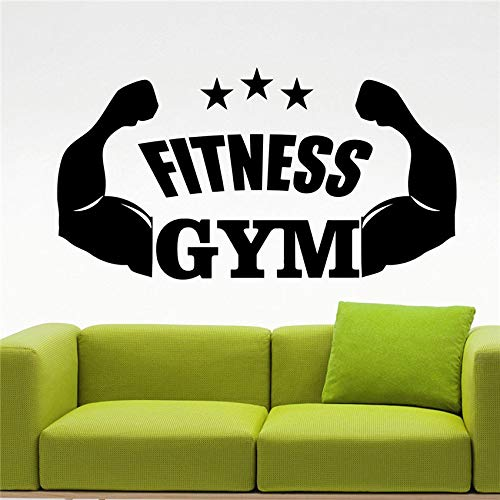 Gesundheit Energie Fitness Wall Decal Vinyl Gym Sport Aufkleber Wall Decor Abnehmbare wasserdichte Aufkleber Wandaufkleber 58 x 31 cm - Decal Gesundheit
