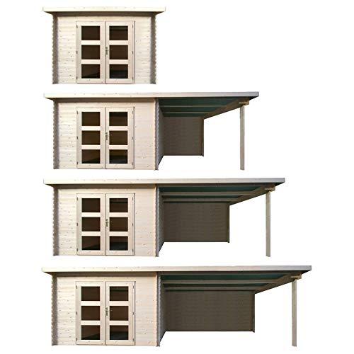 HORI® Gartenhaus I Gerätehaus aus Holz I nordische Fichte Natur I Verschiedene Größen und Ausführungen I Miami I Größe 282 x 282 cm