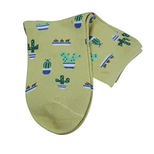 TEBAISE Damen Socken Baumwolle Thermal komfortable Mädchen Socken Malerei Cartoon Süße Lustige Nette Lässige Frauen Socken Damen Uhr
