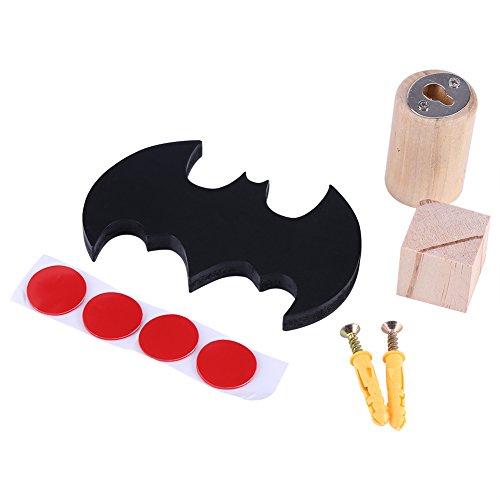 henhilfe Form Fledermaus aus Holz Wanddekoration-Organizer Pendelleuchte mit Installations-Set für Kinderzimmer Kinder ()