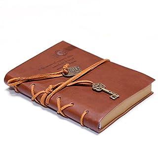 Ocamo Aitao Journal Diary String Key Retro Vintage Classic Leather Bound Notebook Dark Coffee