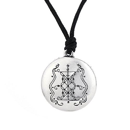 Lemvegeton Vodoun Lwa Wicca Papa Damballah Colgante Collar, Talismán Gótico para Mujer