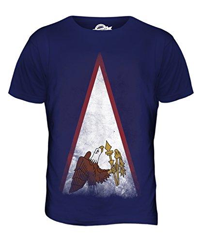 CandyMix Amerikanisch-Samoa Verblichen Flagge Herren T Shirt Navy Blau