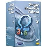 Orthonat - Onagre bourrache poisson - 60 capsules - énergie, vitalité physique et intellectuelle