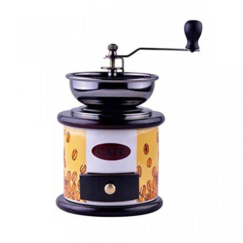 Kaffemühle aus Keramik und Holz