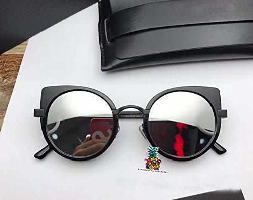 Fashion Vintage Unisex Cateye Frame New Gentle man Women Monster divinity Moooi Sunglasses - black silver a2GNDdf