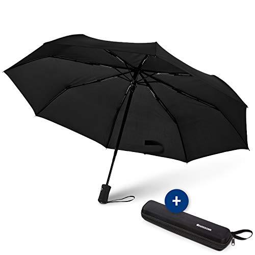 Swissona ombrello antivento, pieghevole, automatico |ombrello con astuccio da viaggio, leggero e compatto, ombrello outdoor