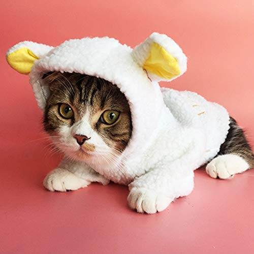 Stock Show Haustierkostüm, süßes weißes Schaf, für Kleine Hunde und Katzen, Winter, warm, Fleece, Mantel für Welpen, Chihuahua, Katze, Weiß, (Schaf Kostüm Für Hunde)