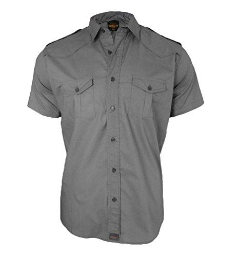 US Shirt Worker chemise à manches courtes travailleur de la chemise homme par ROCK-IT - tailles S-4XL - Couleur Noir Bleu Gris Vert Gris