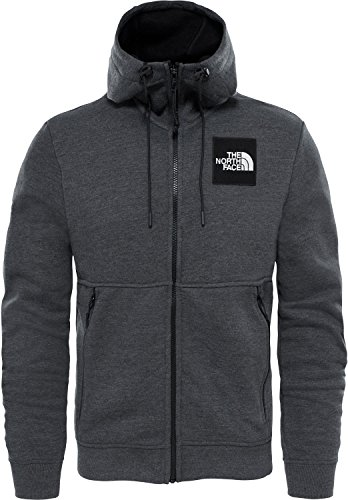 The North Face Herren M Fine Full Zip Hoodie Kapuzenjacke TNF Dark Grey Heather