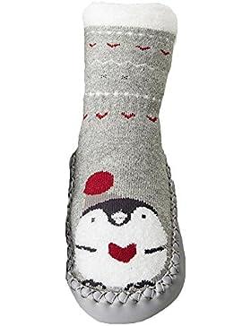 Baumwolle Socken Baby - Herbst Winter Dicke Warm Anti Rutsch Babysöckchen mit Verschiedenen Muster Süß und Lieblich...