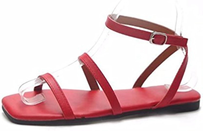 JITIAN  s Mode Ouvertes Femmes Plage Plates, Mode s Chaussures Spartiate Bride Cheville Casual  B07F5HSMW4Parent 9707ba