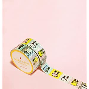 Kawaii Hase Washi Tape for Planning • Planer und Organizer • Scrapbooking • Deko • Office • Party Supplies • Gift Wrapping • Colorful Decorative • Masking Tapes • DIY (15mm breit - 10 Meter)