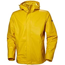 Helly Hansen Moss Outdoor Chaqueta Impermeable, Hombre, Essential Yellow, XL