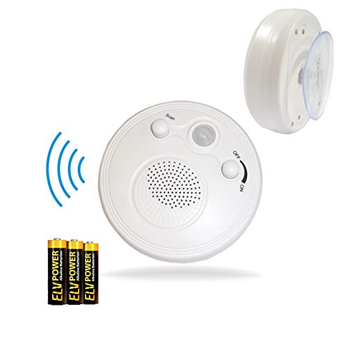 Wasserfestes IPx5 Badezimmerradio / Duschradio mit Bewegungsmelder & Saugnapf inkl. Batterien