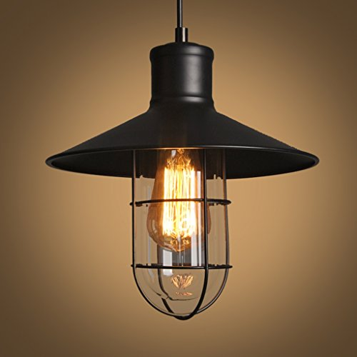 Lamp LU Lustre Retro Fer Industriel Bar de Fer Entrepôt Birdcage Lumière