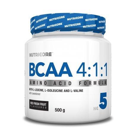 Nutricore BCAA 4.1.1 - 500gr aminoácidos ramificados con sabor a fruta