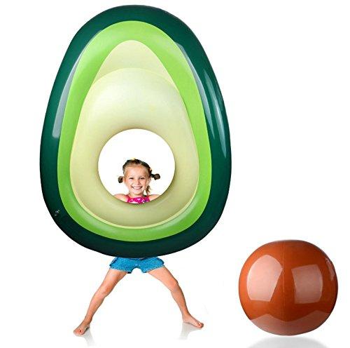 Avocado Aufblasbare Floatation Kickboards,Riesige Pool Float Sommer Schwimmen Ring Kinder und Erwachsene Wasser Pool Spaß Float Spielzeug Aufblasbare