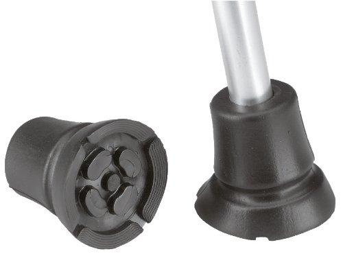 REBOTEC'BigFoot' Antirutschpuffer XXL-Gummifuß für Gehhilfen * Fuß-Durchmesser: ca. 56mm * schwarz