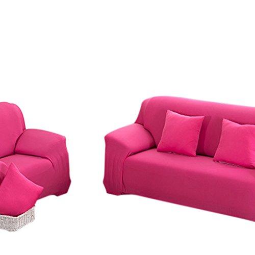 Beautylife66 Sofahussen XL,L,M,S Sesselschoner Sesselbezug Klassisch Stretchhusse Rosa M 145-185cm