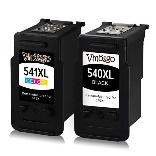 Vmosgo PG-540XL CL-541XL Patronen Ersetzt für Canon PG-540 CL-541 Druckerpatronen, für Canon Pixma MG4250 MG3650 MG3550 MG2250 MG3250 MG3600 MX475 MX395 MX535 MX375 MX525 MX435 (1 Schwarz,1 Farbe)