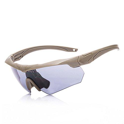 xinzhi Cycling Dust Glasses, Sportbrillen polarisierte Sport-Sonnenbrillen Persönlichkeit Reitbrille für Outdoor Laufen - Khaki