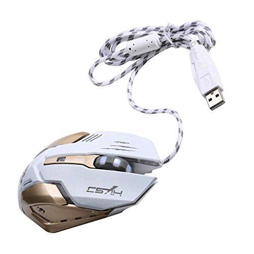 MagiDeal 3200DPI PC Laptop Professional Wireless Gaming Mouse Mice 7 Colors LED Light White 41kc5YXpuGL