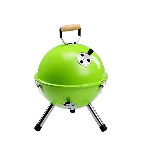 TY&WJ Holzkohlegrill Outdoor,Geräuscharmer Tragbarer Grill Hausgarten Abkochen Bbq Für Camping Wandern Barbecue Werkzeug 3-6 personen-grün 32x32x42cm(13x13x17inch)
