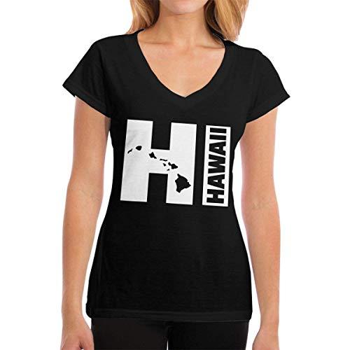 a9b73f4d499b Kalinanai Magliette Vintage Hawaiian Islands Hawaii Aloha State Women's  Casual T-Shirt con Scollo a