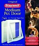 Hunde Katzen Klappe STAYWELL 740 Mittel Verschließbar Weiß