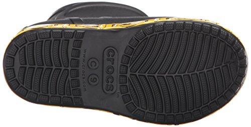 Crocs Bump It Batman Boot, Bottes de Pluie garçon Noir (Black)
