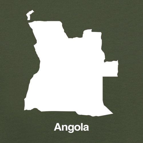 Angola Silhouette - Herren T-Shirt - 13 Farben Olivgrün