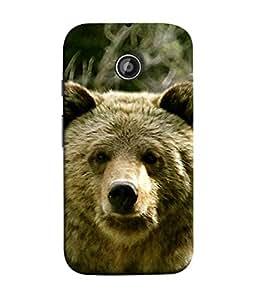 PrintVisa Designer Back Case Cover for Motorola Moto E2 :: Motorola Moto E Dual SIM (2nd Gen) :: Motorola Moto E 2nd Gen 3G XT1506 :: Motorola Moto E 2nd Gen 4G XT1521 (Growling Animal Forest Teddy Bear)