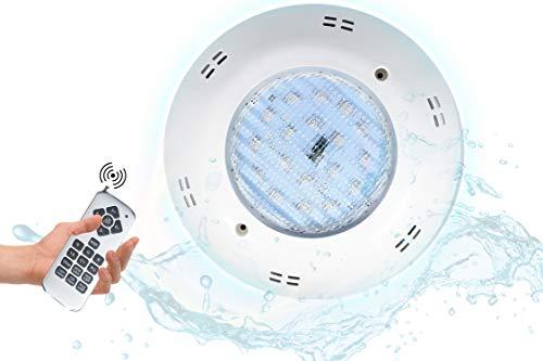 POPP® Foco extraplano para piscina LED RGB AC/DC 12V multicolor para decoracion...