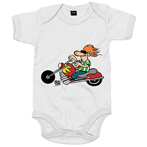 Body bebé Betis el motero verdiblanco - Blanco, 6-12 meses