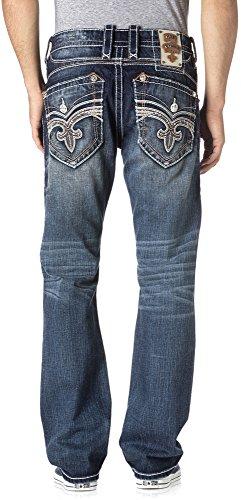 Rock Revival - Herren Feeney J204 Gerade geschnittene Jeans Denim