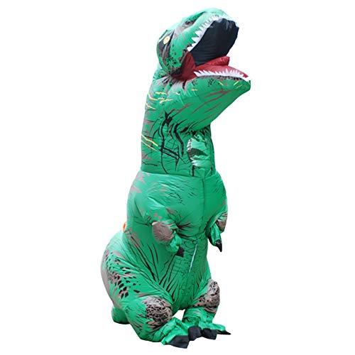 wachsene Dinosaurier-Kostüm Halloween Makeup Party Kleid T-Rex Kleidung Cosplay Tierkostüm,Green ()