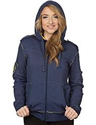 World of Warcraft Damen Kapuzenjacke Champion of the Alliance Logo zum Game blau gelb
