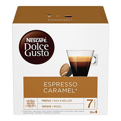 NESCAFÉ DOLCE GUSTO Espresso Caramel Caffè Espresso al Caramello, 3 Confezioni da 16 Capsule (48 Capsule)