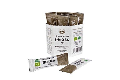 Oxalis Bio Matcha-Tee Pulver, Grüner Tee   Echter Koreanische Bio Matcha Ohne Zusatzstoffe geeignet für Tee, Matcha-Latte, Matcha-Smothies und mehr   100% BIO  Schachtel mit 15 Beuteln, Aus Korea Jeju
