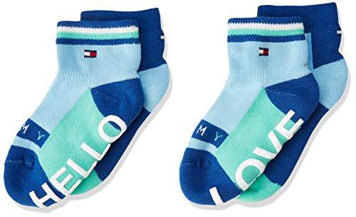 Tommy Hilfiger Tommy Hilfiger Unisex Baby TH BABY HELLO LOVE ABS SOCK 2P Socken, 2per pack Blau (blue combo 168), 15-18 (Herstellergröße: 15-18)