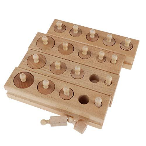 Montessori Juguetes Educativos Bloques Cilindros de Salida Niños