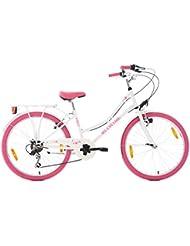 KS Cycling Kinder Kinderfahrrad Starlit RH 36 cm Fahrrad, Weiß/Pink, 24