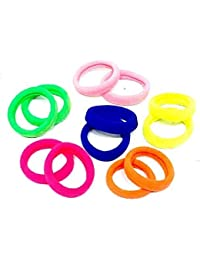 Aviyansh Hair Band Set Of 50 Pcs High Quality Effortless Multi Dark Colored Elastic Cotton Stretch Hair Ties Bands...
