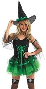 Green Tutu Witch - Adult Halloween Fancy Dress Costume